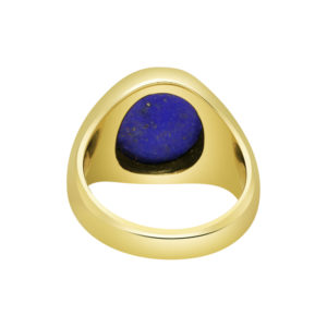 18ct Yellow Gold Signet Ring with Lapis Lazuli