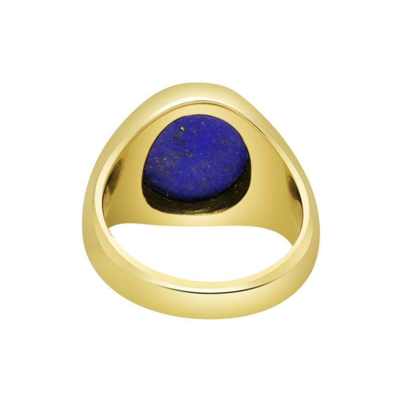 18ct Yellow Gold Signet Ring with Lapis Lazuli