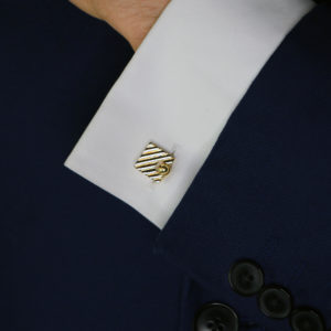 Vintage Cartier Squared Cufflinks in Yellow Gold