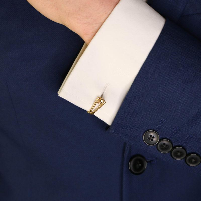 1940's French gold stirrup cufflinks