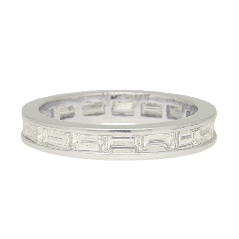 Art Deco Inspired Baguette Diamond Eternity Ring