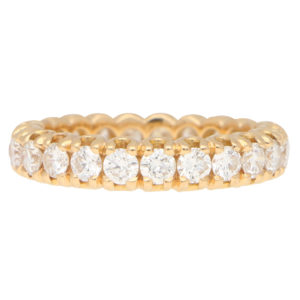 Diamond Eternity Ring in Rose Gold
