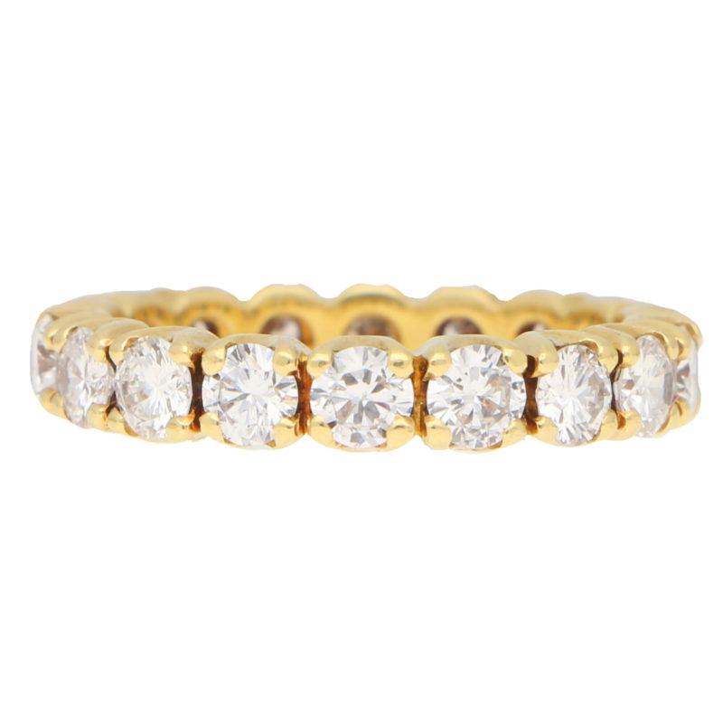 Diamond Full Eternity Ring in Yellow Gold
