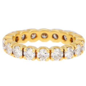 Diamond Full Eternity Ring in Yellow Gold