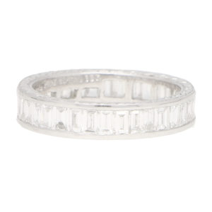 Baguette Diamond Full Eternity Ring in Platinum