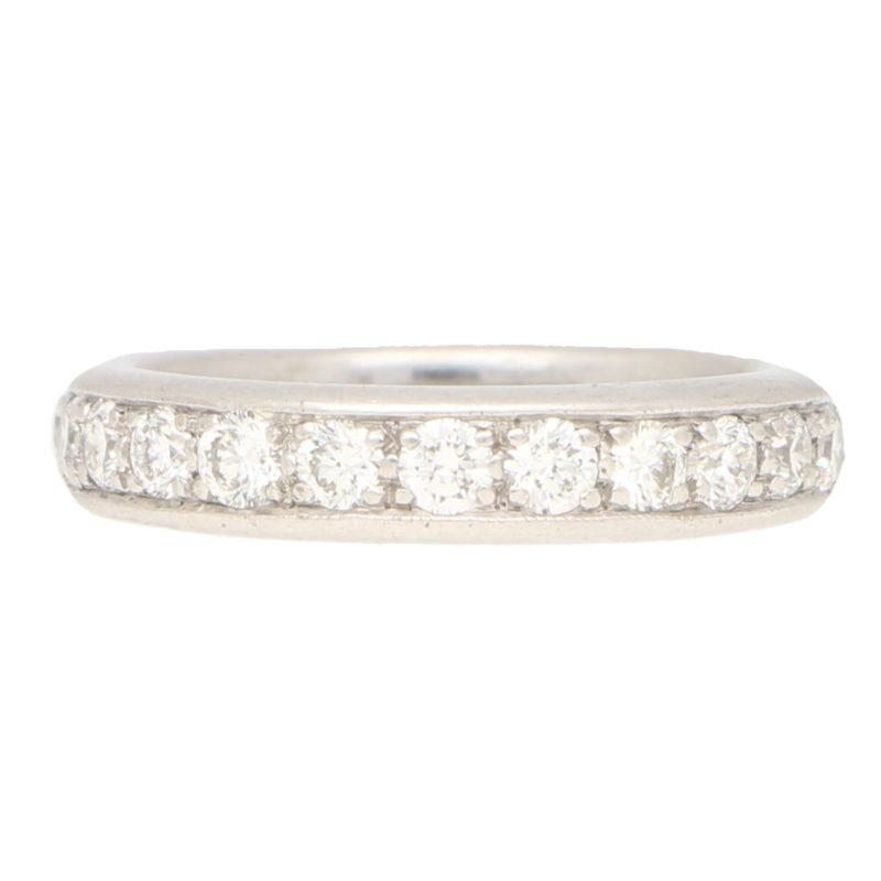 Round Brilliant Full Eternity Ring in White Gold