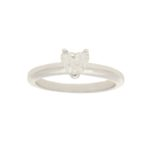 18k gold heart diamond engagement ring