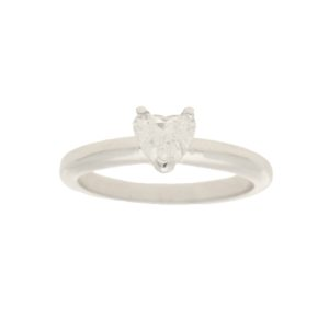 18k gold heart diamond engagement ring