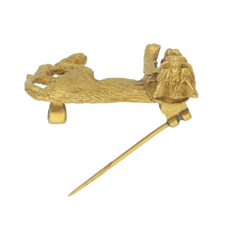 Lynx Cat Brooch Set in Solid Gold