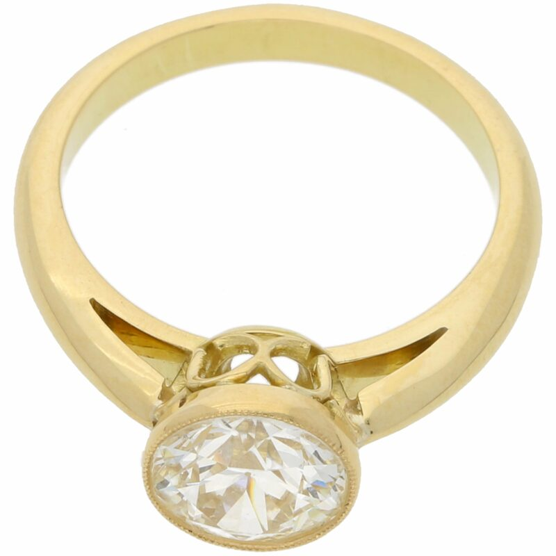 Solitaire Diamond Engagement ring 1.72 carats