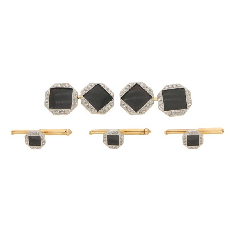 Deco Onyx and diamond dress set