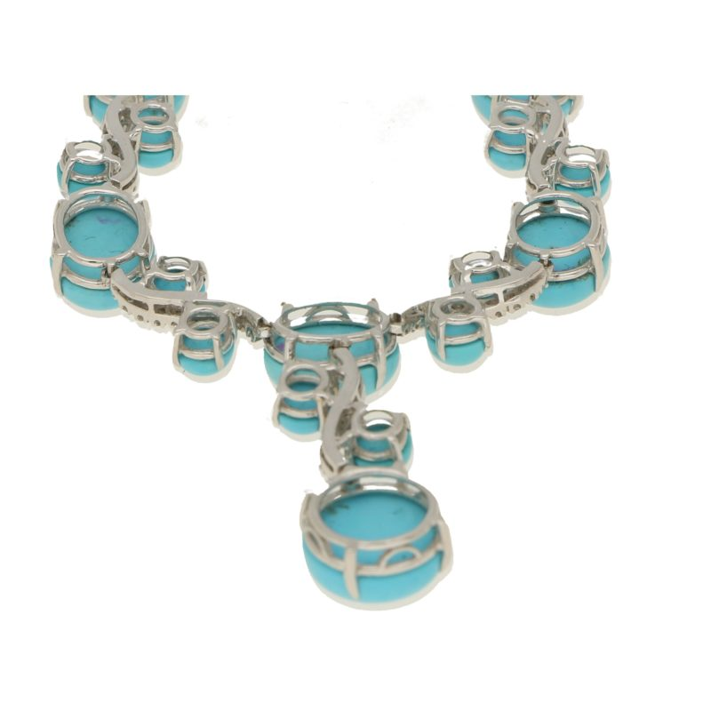 Turquoise and diamond necklace