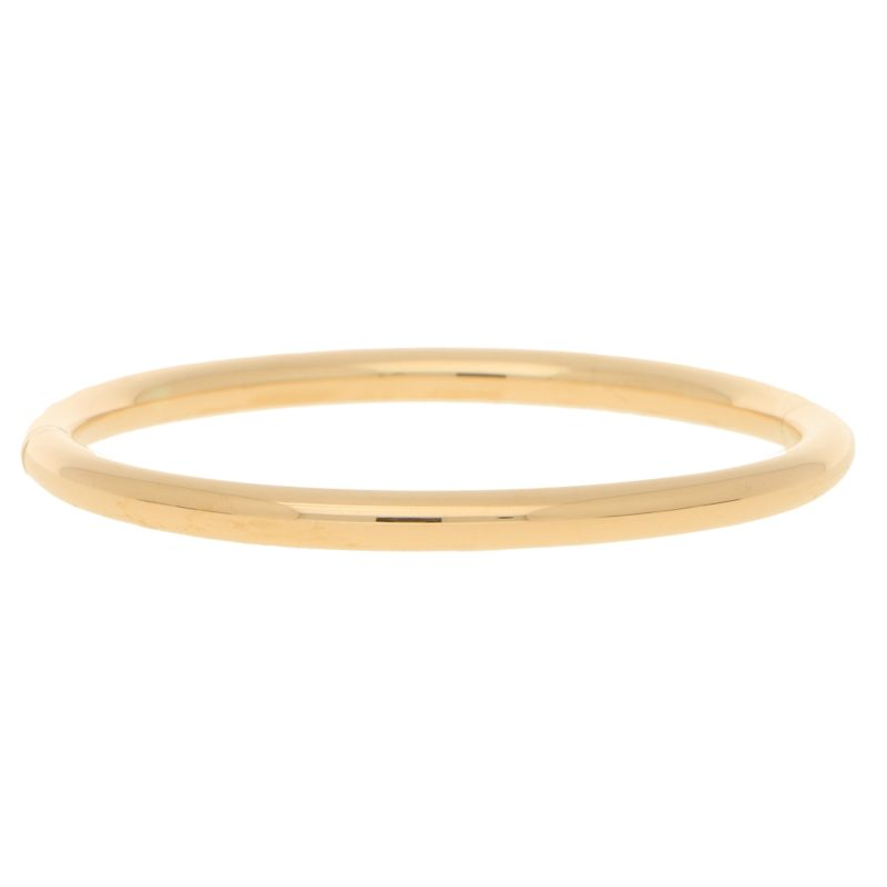 Hinged 18 Carat Yellow Gold Bangle
