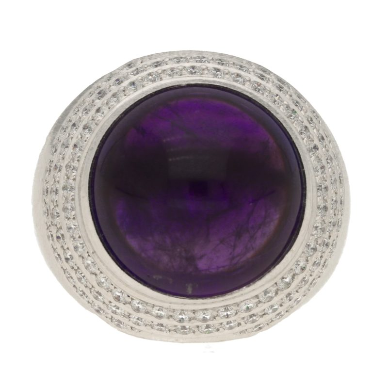 Theo Fennel Amethyst and Diamond Ring