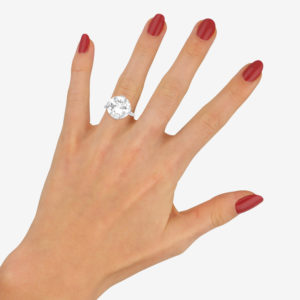 Art Deco 7.49ct Diamond Solitaire Engagement Ring