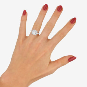 Deco style diamond engagement ring
