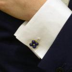 Vintage Lapis & Diamond Cufflinks