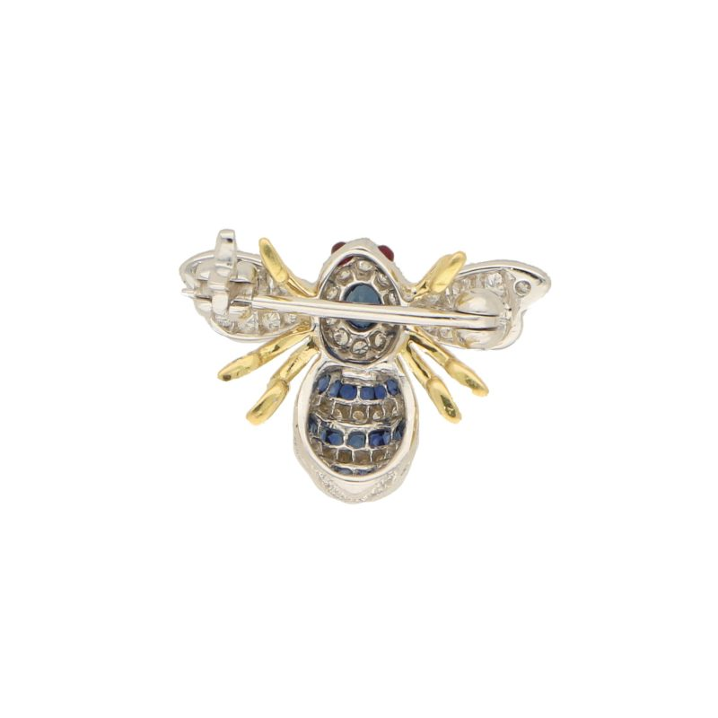 Sapphire and Diamond Bee Brooch