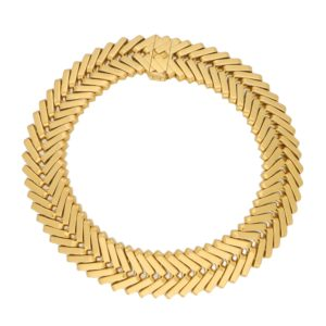 Vintage Van Cleef & Arpels Chevron Bracelet in Yellow Gold