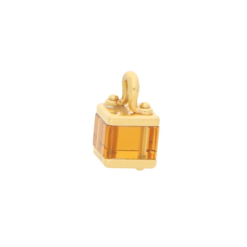 Louis Vuitton Citrine Box Charm in Yellow Gold