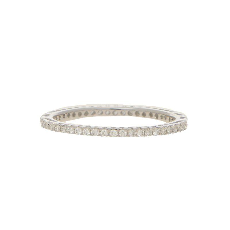 18ct White Gold 0.30 Full Eternity Ring