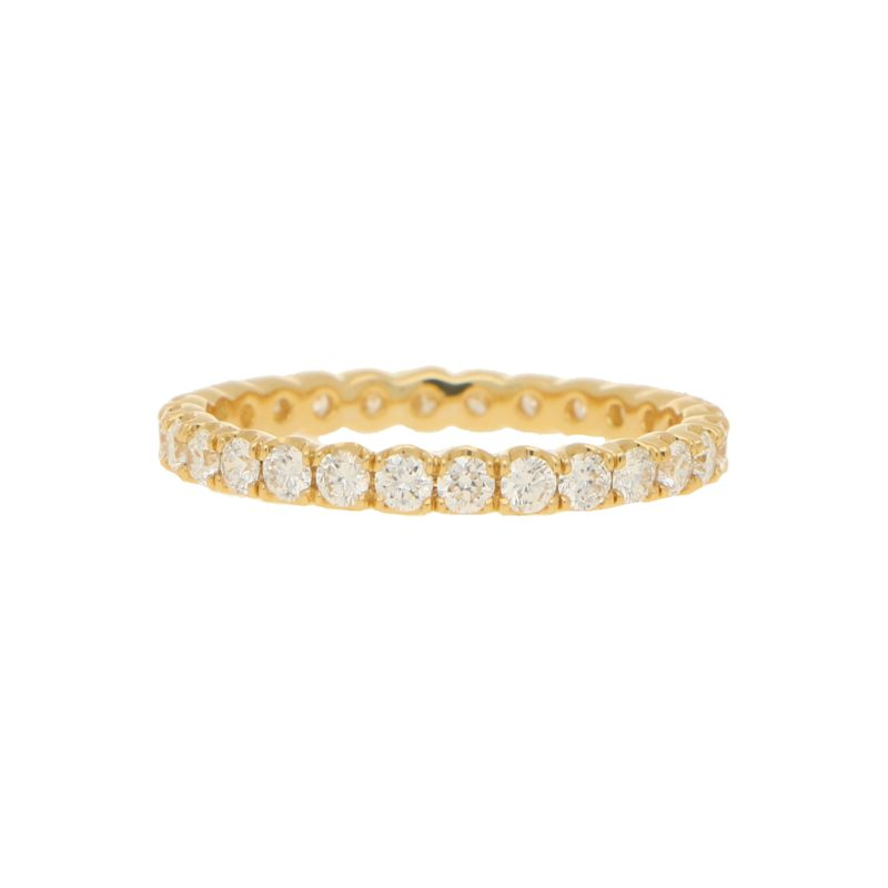 18ct Yellow Gold 0.93ct Diamond Eternity
