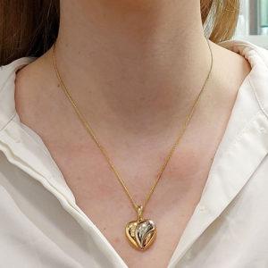 Cartier Heart Pendant in Tricolour Gold