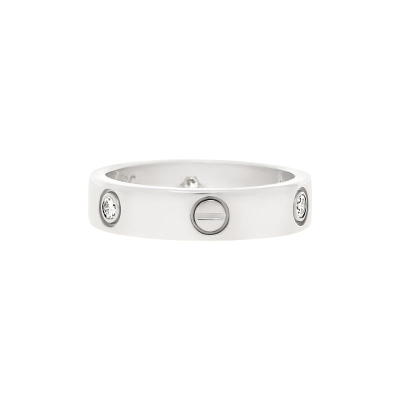 Cartier Love Ring with  Three Diamonds size 63