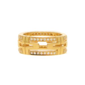 Bulgari Parentesi Diamond Ring 18kt Yellow Gold