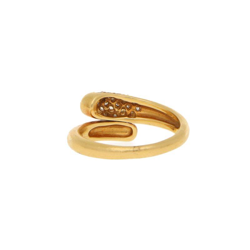 Bulgari Serpenti Diamond Ring 18kt Yellow Gold