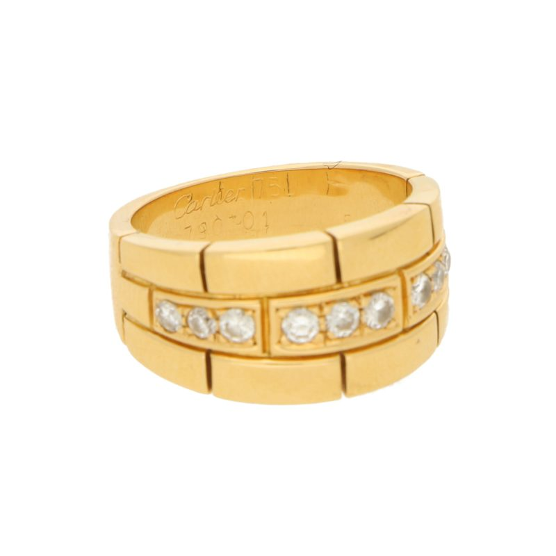 Cartier Maillon Panthère Diamond Ring size 52 (UK size L)