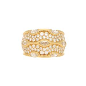 Chaumet Paris Diamond Bombe Ring in Yellow Gold