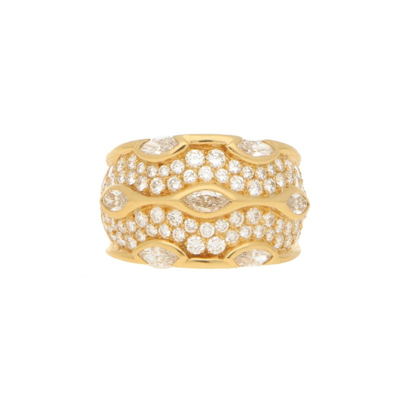 Chaumet Paris Diamond Bombe Ring in Yellow Gold