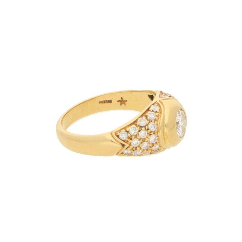 Bulgari Diamond Ring in Yellow Gold c.1980