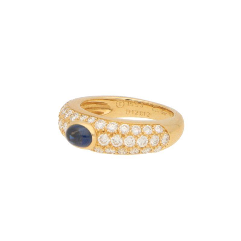 Cartier Mimi Sapphire and Diamond Ring Size 53 (UK size L)