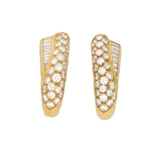 Boucheron Diamond Clip-on Earrings in Yellow Gold