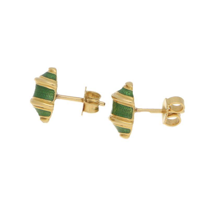 Tiffany & Co. Schlumberger 'Olive' Green Enamel Earrings