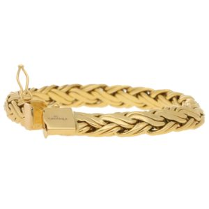 Braided Link Bracelet in Yellow Gold