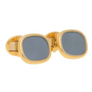 Patek Philippe Enamel and Rock Crystal Cufflinks in Yellow Gold