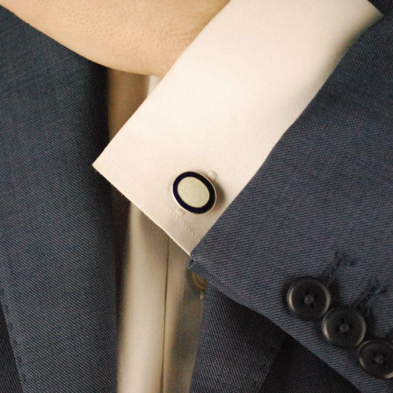 Sterling silver bull and bear cufflinks swivel back fitting