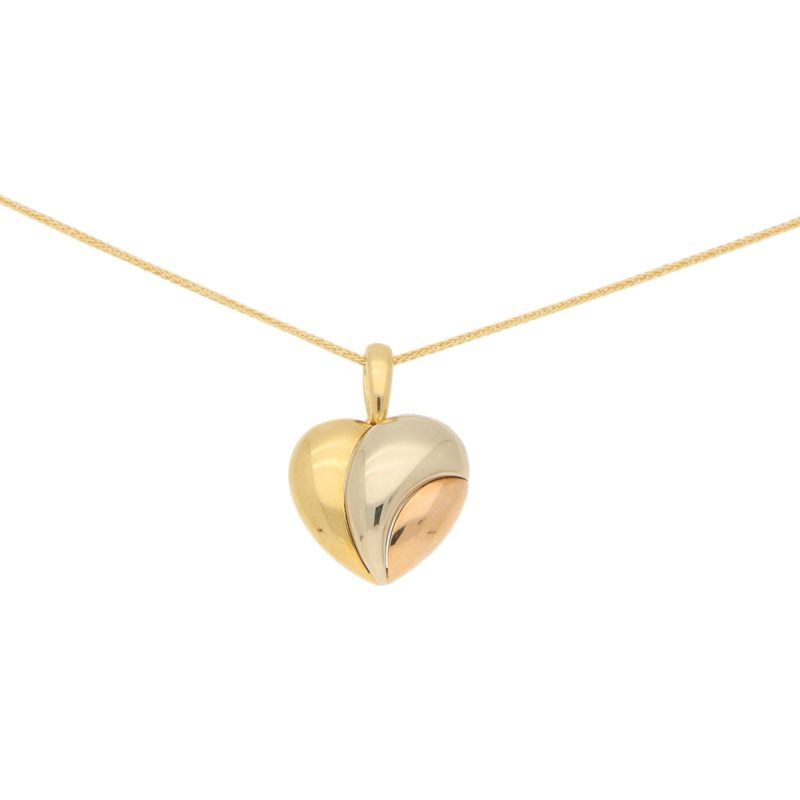 Cartier Heart Pendant in Tricolour Gold