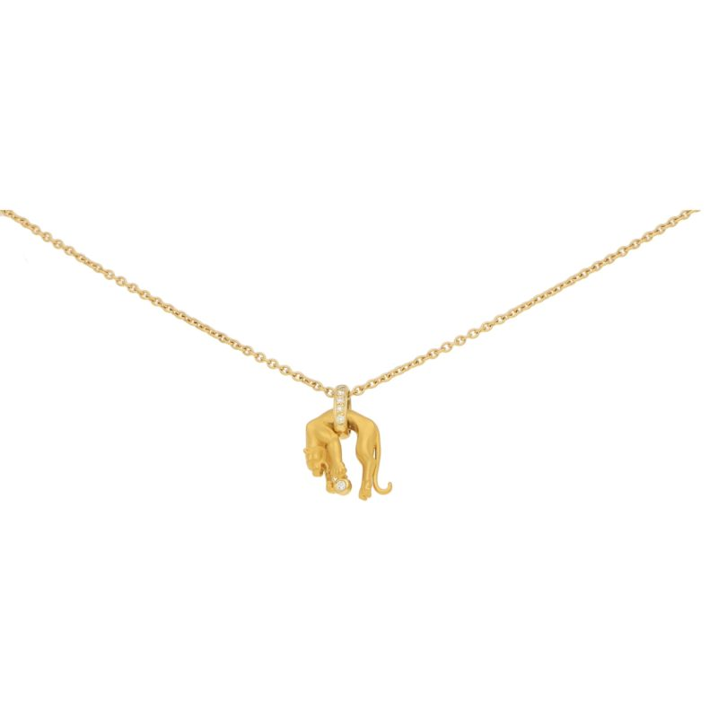 Carrera y Carrera Diamond Panther Necklace in Yellow Gold