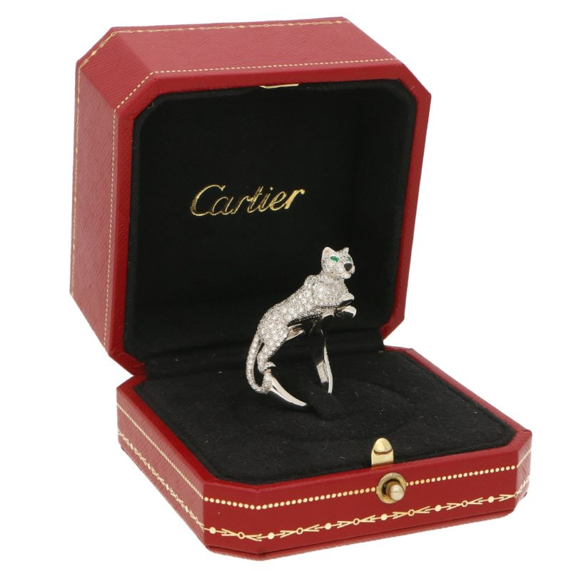 Panthère de Cartier Walking Panther Diamond Ring