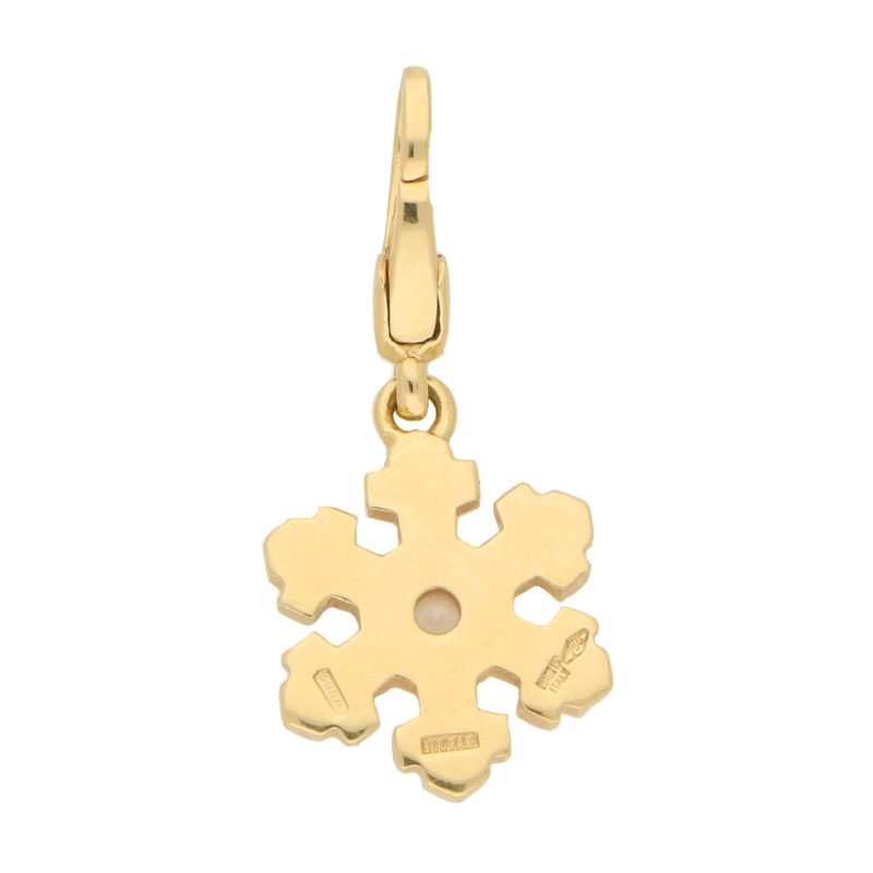 Bulgari Snowflake Diamond Pendant in Yellow Gold
