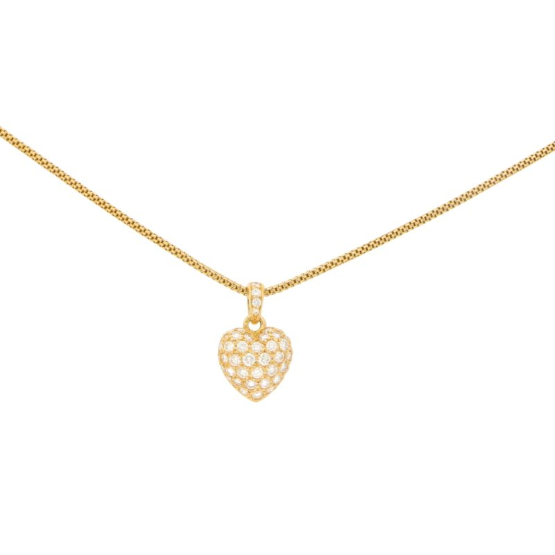 Cartier Diamond Heart Pendant in 18k Yellow Gold