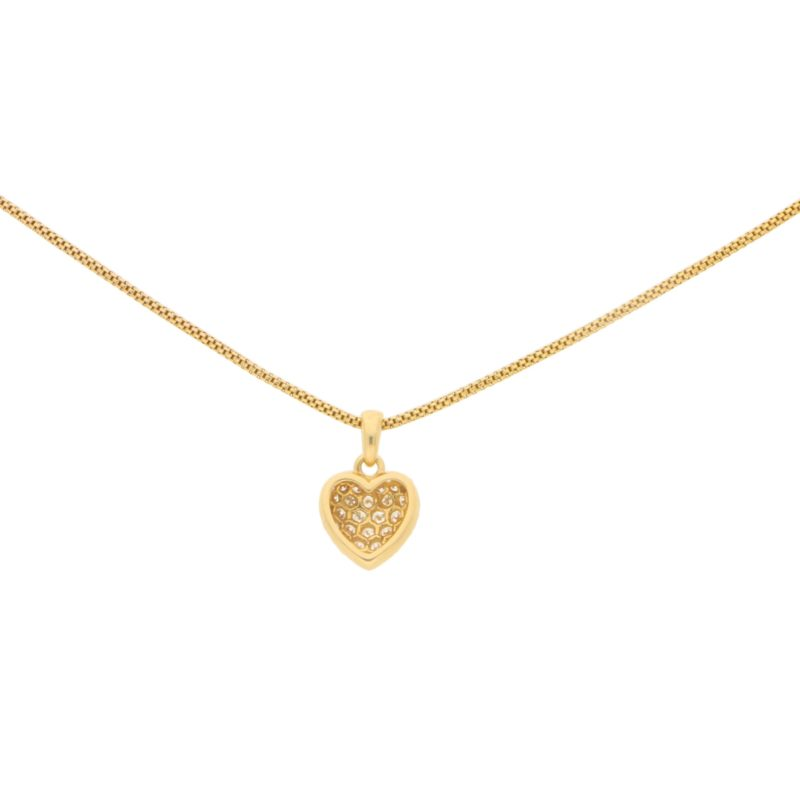 Cartier Diamond Heart Pendant in 18k Yellow Gold