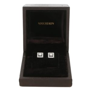 Boucheron Princess Cut Stud Earrings