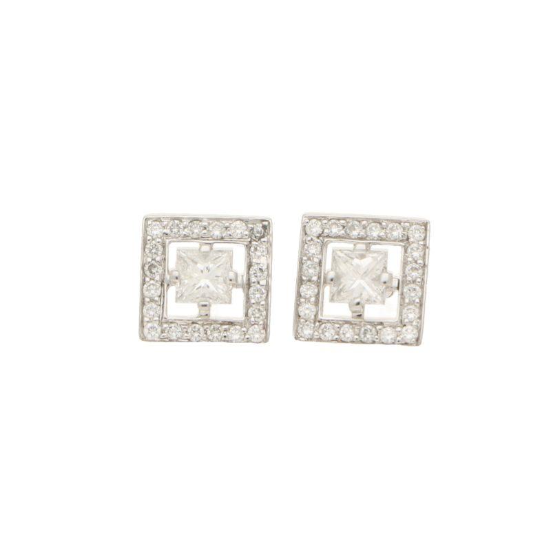 Boucheron Princess Cut Stud Earrings
