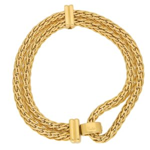 Pomellato Spiga Link Chain Bracelet in Yellow and White Gold