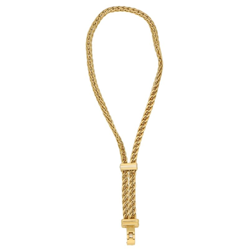 Pomellato Spiga Link Chain Bracelet in Yellow and White Gold